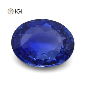 1.07 ct Oval Blue Sapphire IGI Certified Unheated - Skyjems Wholesale Gemstones