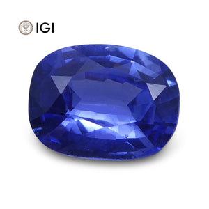 0.94 ct Cushion Blue Sapphire IGI Certified Unheated - Skyjems Wholesale Gemstones