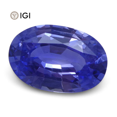 1.41 ct Oval Blue Sapphire IGI Certified Unheated - Skyjems Wholesale Gemstones