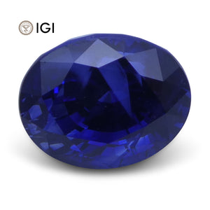 2.52 ct Oval Blue Sapphire IGI Certified - Skyjems Wholesale Gemstones