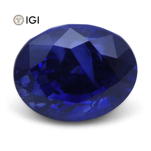 2.52 ct Oval Blue Sapphire IGI Certified