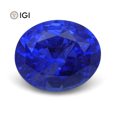 2.36 ct Oval Blue Sapphire IGI Certified - Skyjems Wholesale Gemstones