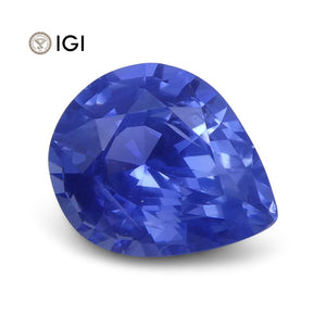 1.27 ct Pear Blue Sapphire IGI Certified Unheated - Skyjems Wholesale Gemstones