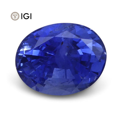 1.47 ct Oval Blue Sapphire IGI Certified Unheated - Skyjems Wholesale Gemstones