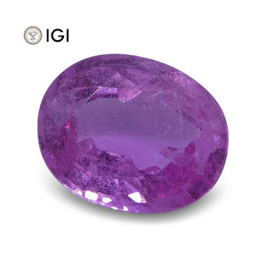2.06 ct Pink Sapphire Oval IGI Certified - Skyjems Wholesale Gemstones