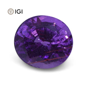 1.23 ct Pinkish Purple Sapphire Oval IGI Certified - Skyjems Wholesale Gemstones