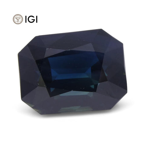 17.16 ct Sapphire Emerald Cut IGI Certified Ethiopian, Unheated