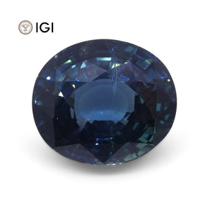 6.84 ct Sapphire Oval IGI Certified Ethiopian, Unheated - Skyjems Wholesale Gemstones