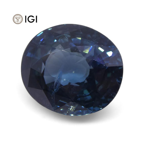 6.84 ct Sapphire Oval IGI Certified Ethiopian, Unheated