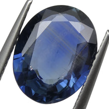 3.77 ct Blue Sapphire Oval IGI Certified Tanzanian, Unheated