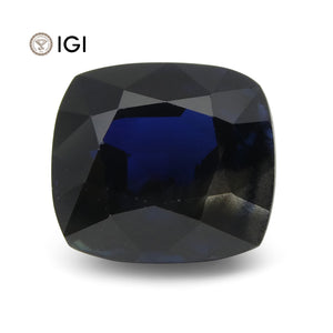5.69 ct Blue Sapphire Cushion IGI Certified Ethiopian, Unheated - Skyjems Wholesale Gemstones