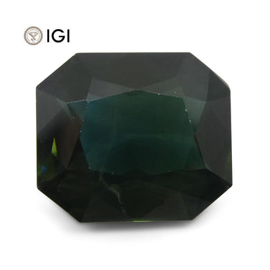15.61ct Unheated Teal Blue Sapphire from Ethiopia with IGI Certification - Skyjems Wholesale Gemstones