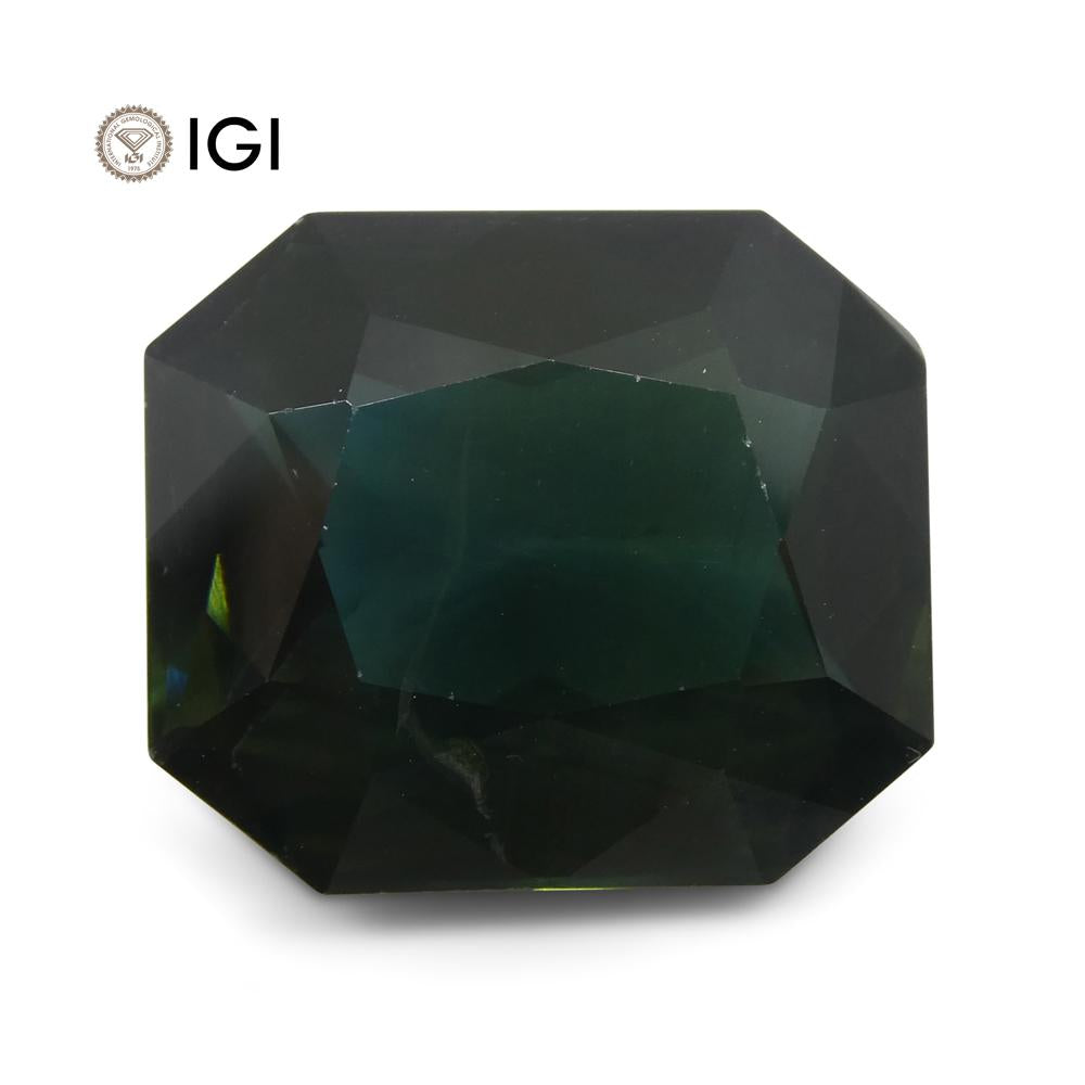 15.61ct Unheated Teal Blue Sapphire from Ethiopia with IGI Certification