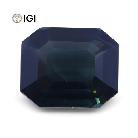 7.09ct Unheated Teal Blue Sapphire from Ethiopia with IGI Certification