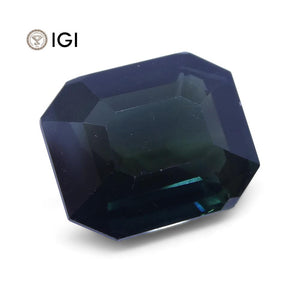 7.09ct Unheated Teal Blue Sapphire from Ethiopia with IGI Certification - Skyjems Wholesale Gemstones