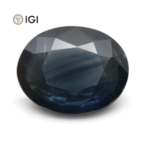 4.06 ct Blue Sapphire Oval IGI Certified Ethiopian, Unheated - Skyjems Wholesale Gemstones