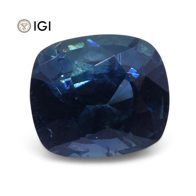 2.29ct Teal Blue Sapphire, Cushion IGI Certified - Skyjems Wholesale Gemstones