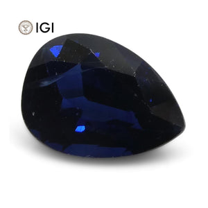 1.50 ct Blue Sapphire Pear  IGI Certified Thailand - Skyjems Wholesale Gemstones