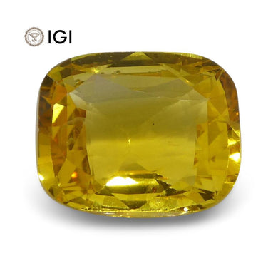 2.52 ct Yellow Sapphire Cushion IGI Certified Sri Lankan - Skyjems Wholesale Gemstones