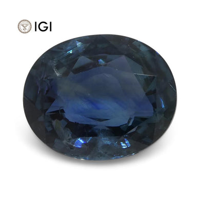 4.07 ct Blue Sapphire Oval IGI Certified Unheated - Skyjems Wholesale Gemstones