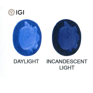 2.17 ct Color Change Sapphire Oval IGI Certified Sri Lankan