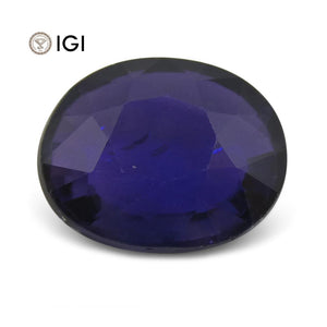 2.17 ct Color Change Sapphire Oval IGI Certified Sri Lankan - Skyjems Wholesale Gemstones