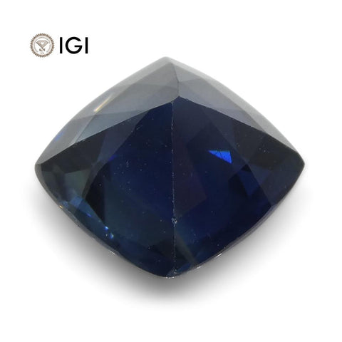1.66 ct Blue Sapphire Cushion IGI Certified Ethiopian