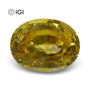 2.39 ct Yellow Sapphire Oval IGI Certified Sri Lankan - Skyjems Wholesale Gemstones