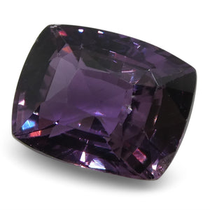2.44 ct Purple Sapphire Cushion IGI Certified Sri Lankan, Unheated