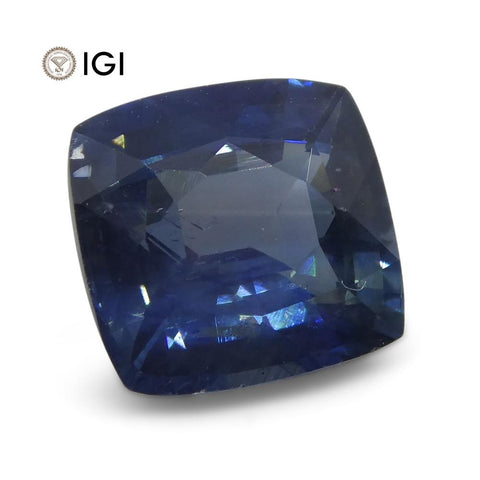 1.98 ct Blue Sapphire Cushion IGI Certified Ethiopian
