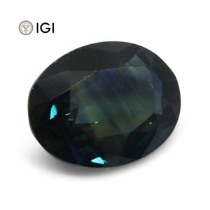 3.53ct Teal Blue Sapphire from Ethiopia with IGI Certification - Skyjems Wholesale Gemstones