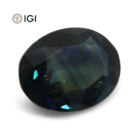 3.53ct Teal Blue Sapphire from Ethiopia with IGI Certification