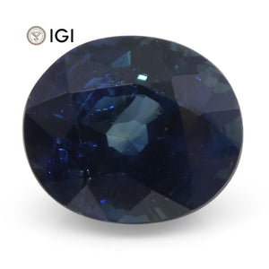 2.02 ct Oval Blue Sapphire IGI Certified - Skyjems Wholesale Gemstones