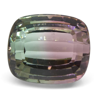 Tourmaline 28.78 cts 18.39x15.62x12.08mm Cushion Step Cut Pink and Green  $4300