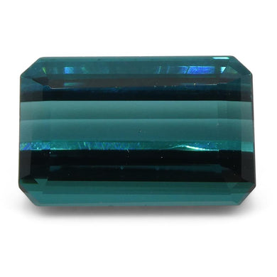 Tourmaline 4.33 cts 11.44x7.43x5.32mm Cut-Cornered Rect. Step Cut Greenish Blue  $800