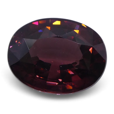 6.61 ct Red Zircon Oval IGI Certified - Skyjems Wholesale Gemstones