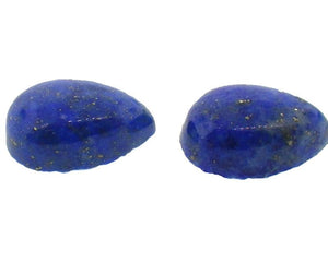 2 Stones - 4.17 ct Pear Shape Natural Fine Blue Lapis Lazuli Gemstone - Skyjems Wholesale Gemstones