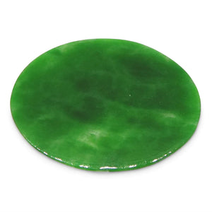 0.45ct Jadeite Jade Oval Flat Cabochon - Skyjems Wholesale Gemstones