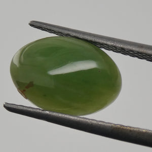 2.23ct Oval Cabochon Green Jadeite Jade - Skyjems Wholesale Gemstones