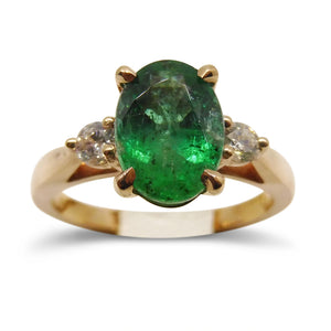 1.92 ct. Emerald Ring in 14kt Pink/Rose Gold