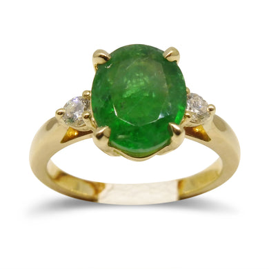 2.28 ct. Emerald Ring in 14kt Yellow Gold