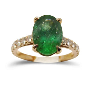 2.09 ct. Emerald Ring in 14kt Pink/Rose Gold GS Laboratories Certified - Skyjems Wholesale Gemstones