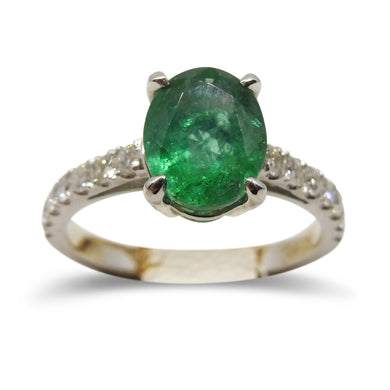 1.82ct. Emerald Ring in 14kt White Gold
