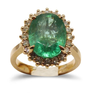 5.20 ct. Emerald Ring in 14kt Pink/Rose Gold