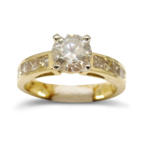 1.05ct. Diamond Engagement Ring in 14kt Yellow Gold IGI Certified