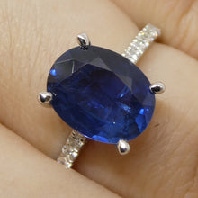 2.88ct. GIA Certified Sapphire & Diamond Ring in 18kt White Gold