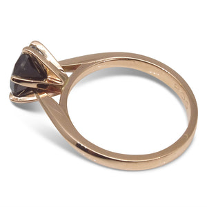 2.00 ct. Black Diamond Solitaire Ring in 14kt Pink/Rose Gold