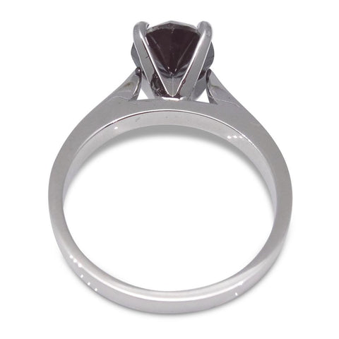 Fine Quality 1.85 ct. Black Diamond Solitaire Ring in 14kt White Gold