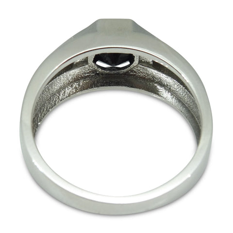 1.51ct Heavy Black Diamond Solitaire Ring in 14kt White Gold