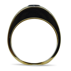 1.23 ct. Black Diamond Men's Solitaire Ring in 14kt Yellow Gold
